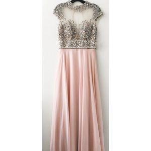Joavni Pink Chiffon Dress size 4